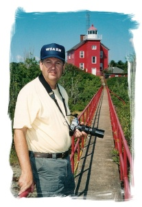 Jim at Marquette Harbor Lighthouse